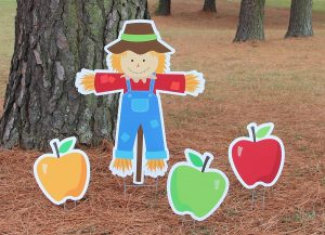 Scarecrow and Apples
