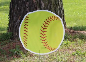 Bright Yellow Softball