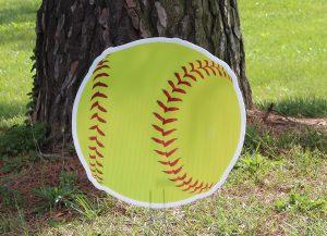 Bright Yellow Softball