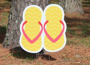 Flip Flops-Yellow Zig Zags